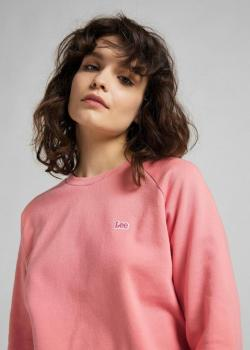 Lee® Plain Crew Neck Sweatshirt - Cherry Blossom