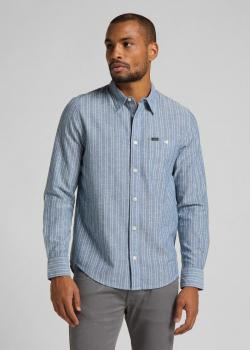 Lee® Leesure Shirt - Washed Blue