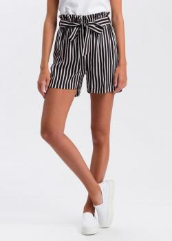 Cross Jeans® Striped Shorts - Black/White