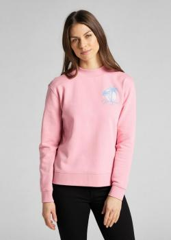 Lee® Logo Sweatshirt Pam Tree - Pink