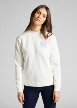 Lee® Logo Sweatshirt Palm Tree - Off White