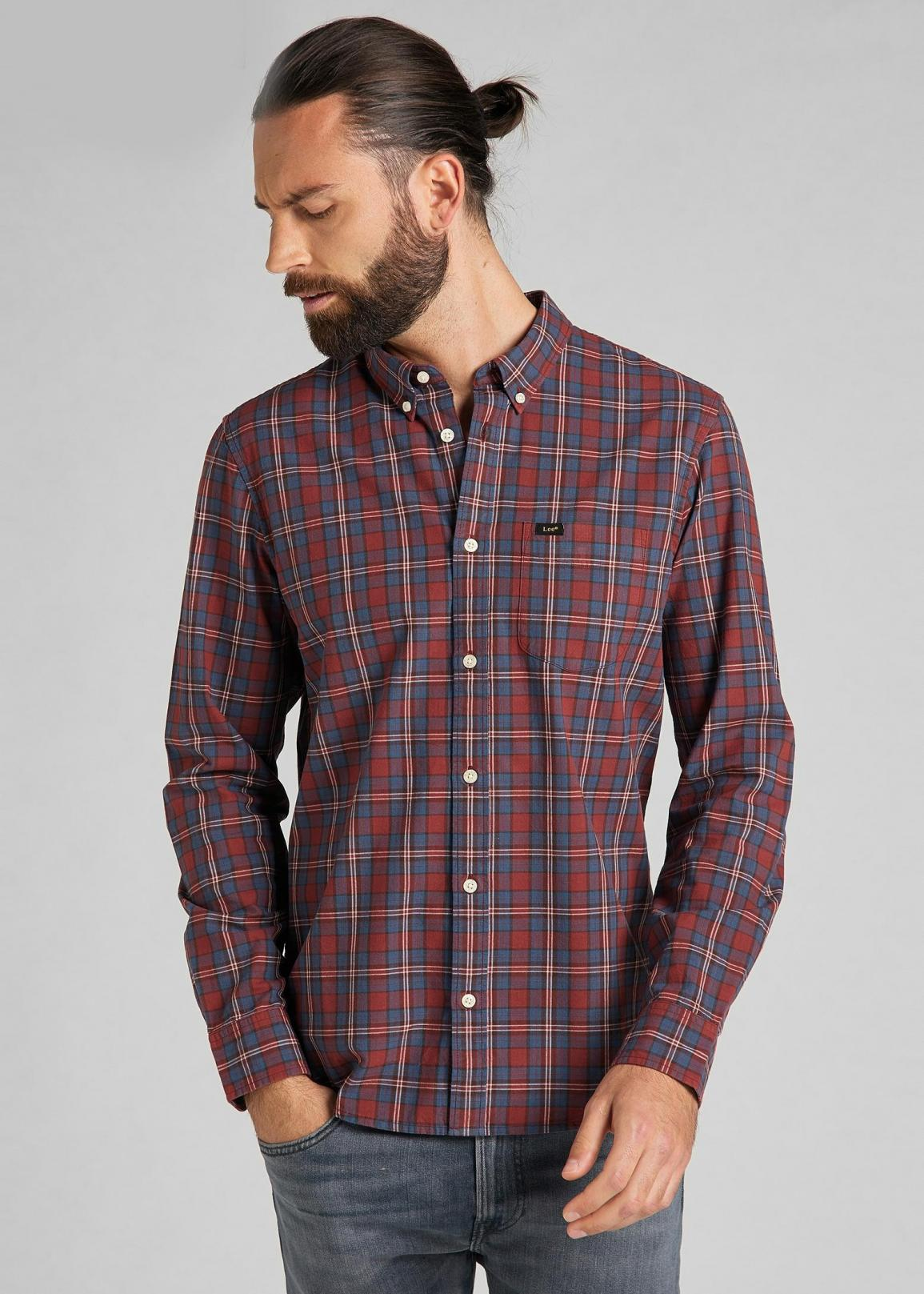 Lee® Button Down - Fired Brick Check