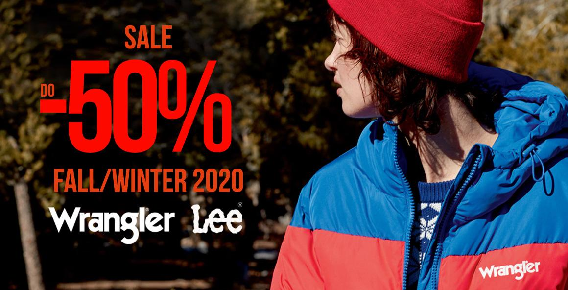 Sale Sale Sale Wrangler® Lee® do -50%